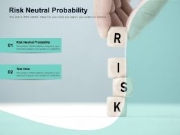 Risk Neutral Probability Ppt Powerpoint Presentation Summary Introduction Cpb