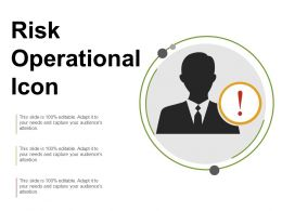 Risk Operational Icon Ppt Example File
