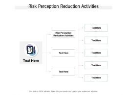 Risk Perception Reduction Activities Ppt Powerpoint Presentation Icon Smartart Cpb