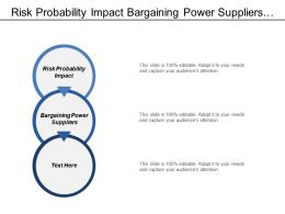 Risk Probability Impact Bargaining Power Suppliers Threat Substitute Products