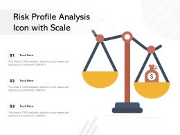 Risk Profile Analysis Icon With Scale