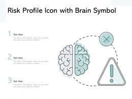 Risk Profile Icon With Brain Symbol