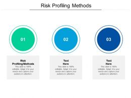 Risk Profiling Methods Ppt Powerpoint Presentation Professional Objects Cpb