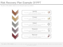 Risk Recovery Plan Example Of Ppt