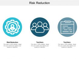 Risk Reduction Ppt Powerpoint Presentation Infographic Template Inspiration Cpb