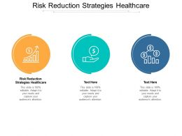 Risk Reduction Strategies Healthcare Ppt Powerpoint Presentation Clipart Cpb