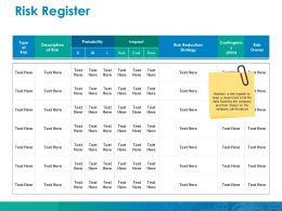 Risk Register Ppt File Graphics Example