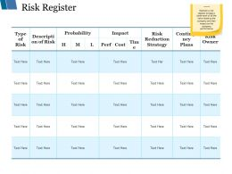 Risk Register Ppt Styles Guide