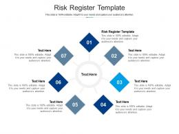 Risk Register Template Ppt Powerpoint Presentation Outline Graphic Tips Cpb
