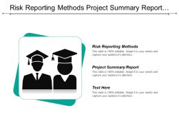 Risk Reporting Methods Project Summary Report Project Monitoring Control Cpb