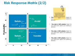 Risk Response Matrix Ppt Model Icon