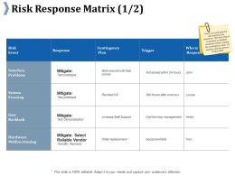Risk Response Matrix Ppt Professional Background Designs