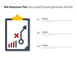 Risk Response Plan Document Ensuring Business Growth