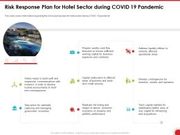 Risk Response Plan For Hotel Sector During COVID 19 Pandemic Ppt Powerpoint Presentation Outline