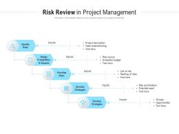 Risk Review In Project Management