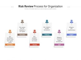 Risk Review Process For Organization