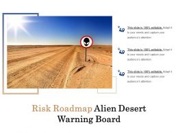 Risk Roadmap Alien Desert Warning Board