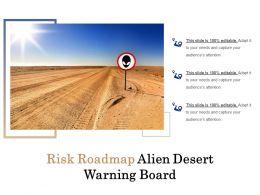 Risk Roadmap Alien Desert Warning Board