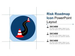 Risk Roadmap Icon Powerpoint Layout