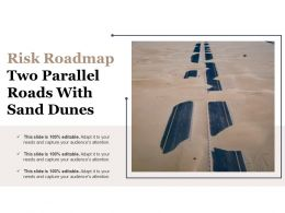 Risk Roadmap Two Parallel Roads With Sand Dunes