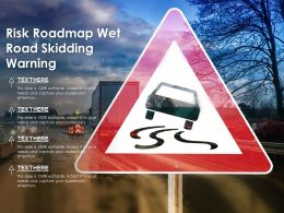 Risk Roadmap Wet Road Skidding Warning