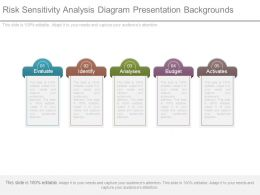 Risk Sensitivity Analysis Diagram Presentation Backgrounds