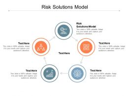 Risk Solutions Model Ppt Powerpoint Presentation Professional Clipart Images Cpb