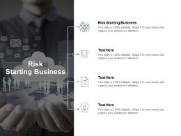 Risk Starting Business Ppt Powerpoint Presentation Show Display Cpb