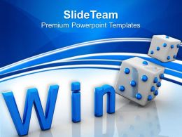 Risk Strategy Powerpoint Templates Win Cube Game Success Marketing Ppt