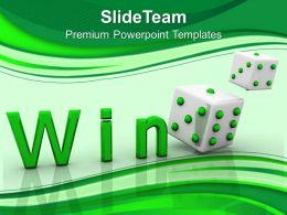 Risk Strategy Powerpoint Templates Win Cube Success Sales Ppt Slides