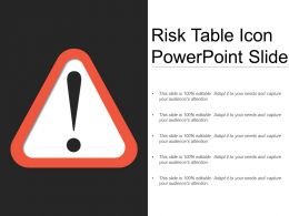 Risk Table Icon Powerpoint Slide