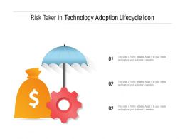 Risk Taker In Technology Adoption Lifecycle Icon