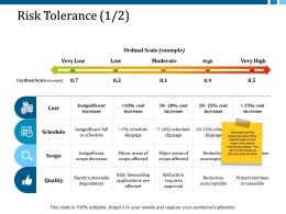 Risk Tolerance 1 2 Ppt Layouts Slide