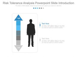 Risk Tolerance Analysis Powerpoint Slide Introduction