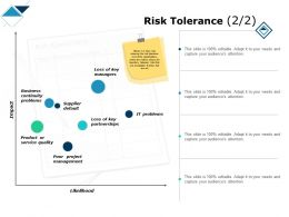 Risk Tolerance Partnerships Service Ppt Powerpoint Presentation Show