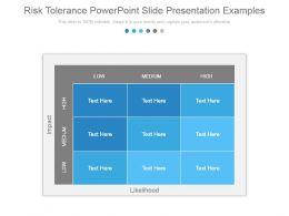 Risk Tolerance Powerpoint Slide Presentation Examples