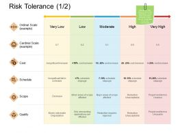 Risk Tolerance Quality Cost Ppt Powerpoint Presentation File Rules