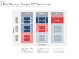 Risk Tolerance Sample Ppt Presentation