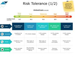 Risk Tolerance Scope Cost Ppt Powerpoint Presentation Show