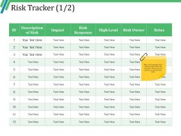 Risk Tracker Example Of Ppt