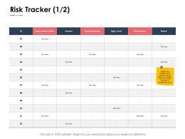 Risk Tracker Ppt Powerpoint Presentation Portfolio Backgrounds