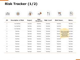 Risk Tracker Risk Response H173 Ppt Powerpoint Presentation Show Inspiration