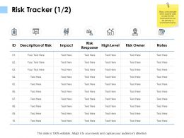 Risk Tracker Risk Response K120 Ppt Powerpoint Presentation File Show