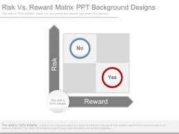 Risk Vs Reward Matrix Ppt Background Designs