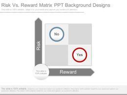 Risk Vs Reward Matrix Ppt Background Designs