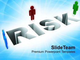 Risk With 3d Man Failure Profit Business Powerpoint Templates Ppt Themes And Graphics 0113