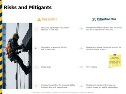 Risks And Mitigants Ppt Powerpoint Presentation Background Image