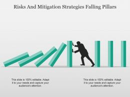 Risks And Mitigation Strategies Falling Pillars Powerpoint Slide Deck