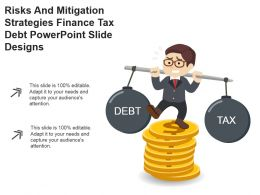 Risks And Mitigation Strategies Finance Tax Debt Powerpoint Slide Designs