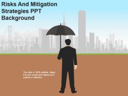 Risks And Mitigation Strategies Ppt Background
